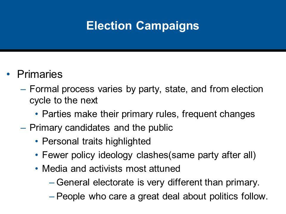 Election Campaigns Primaries
