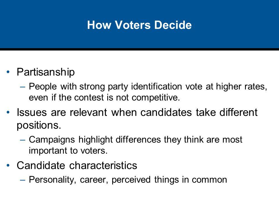 How Voters Decide Partisanship
