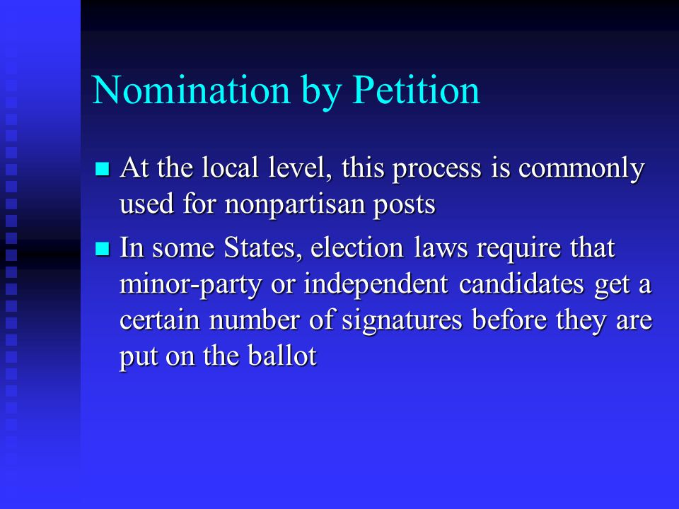 Nomination by Petition