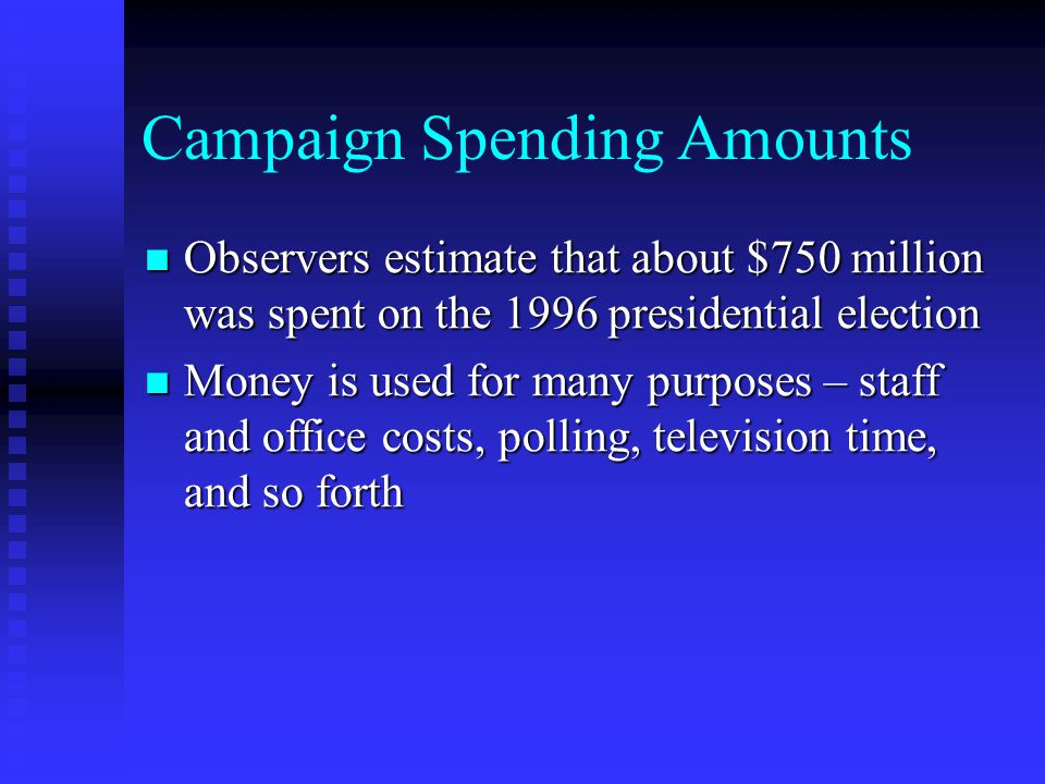 Campaign Spending Amounts