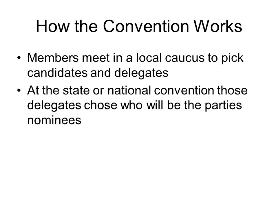 How the Convention Works