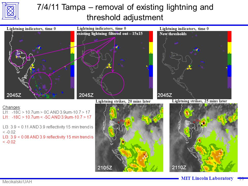 7/4/11 Tampa – removal of existing lightning and threshold adjustment