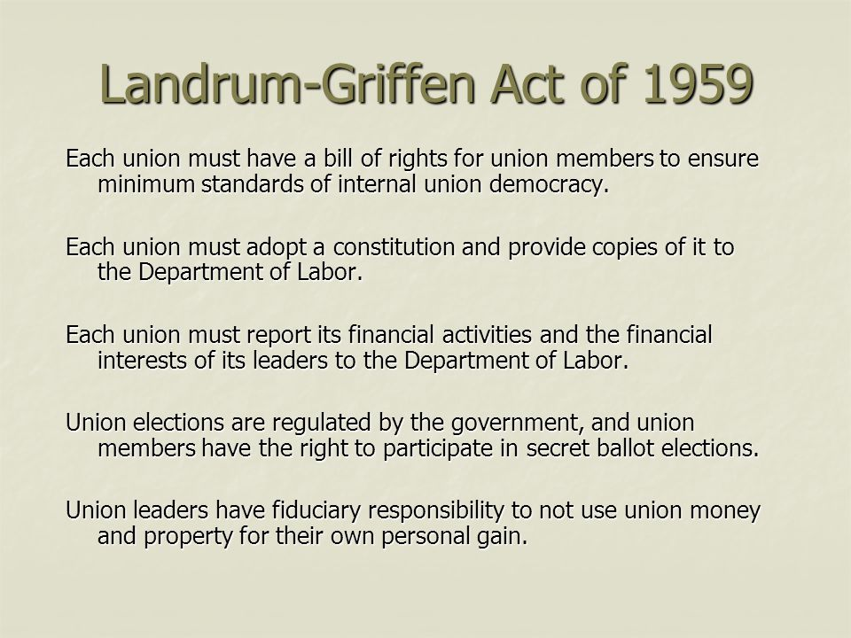 Landrum-Griffen Act of 1959