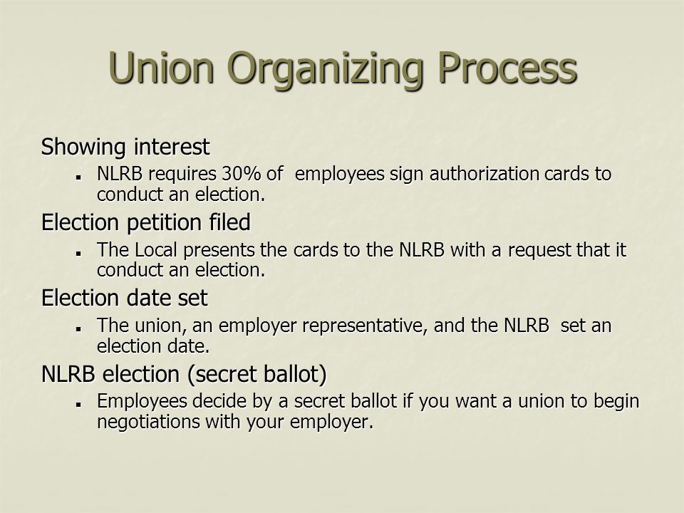 Union Organizing Process