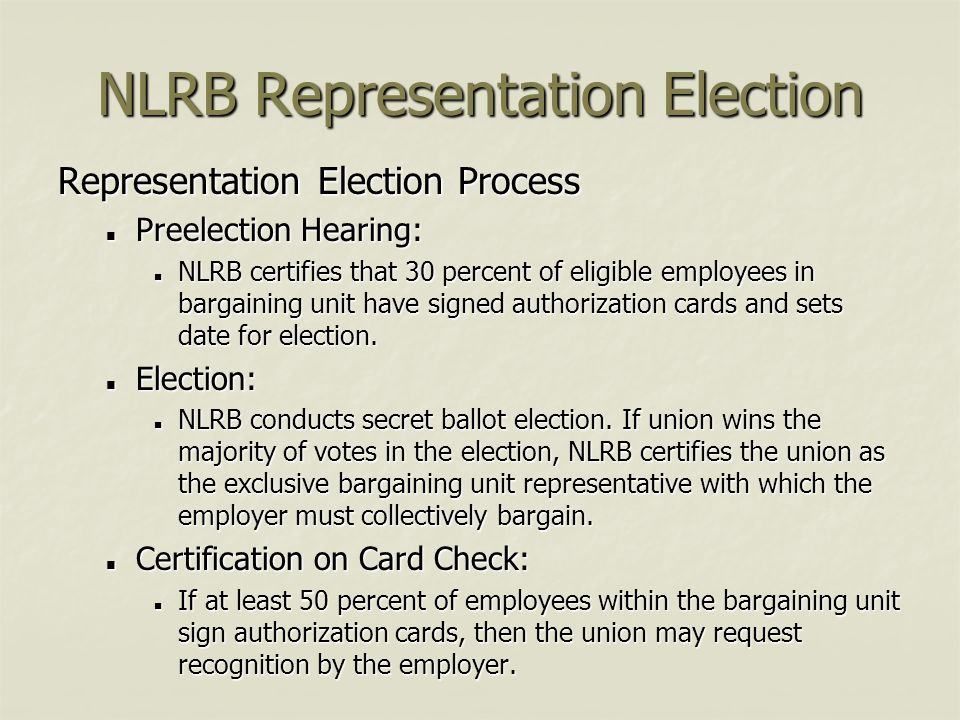 NLRB Representation Election