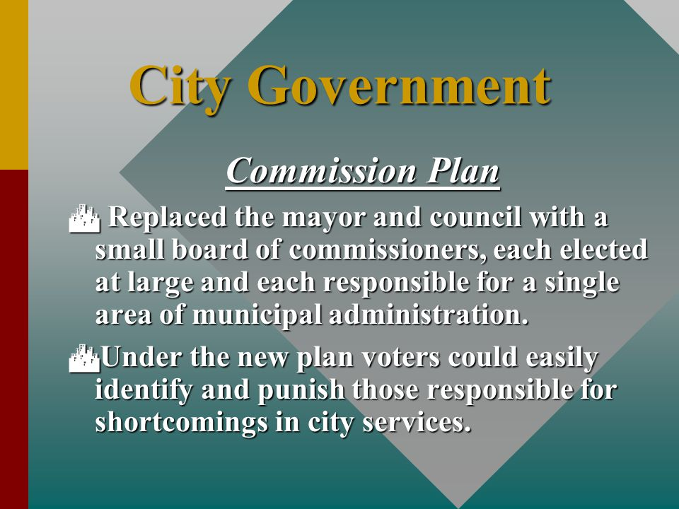 City Government Commission Plan