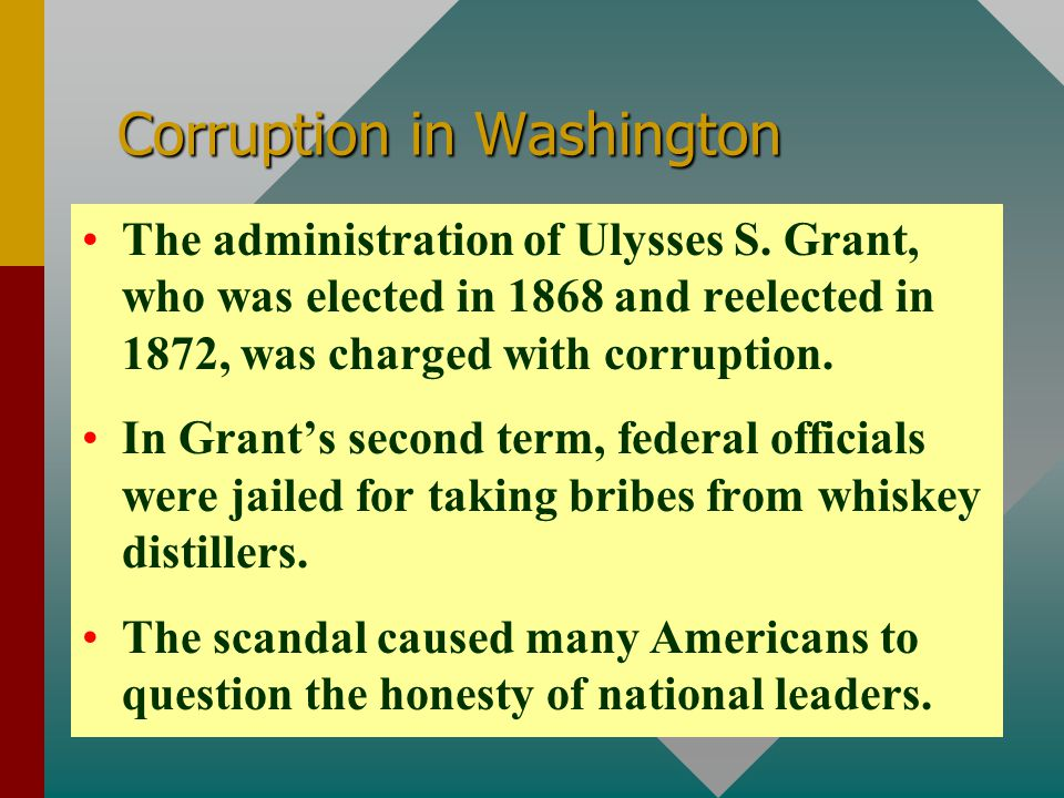 Corruption in Washington