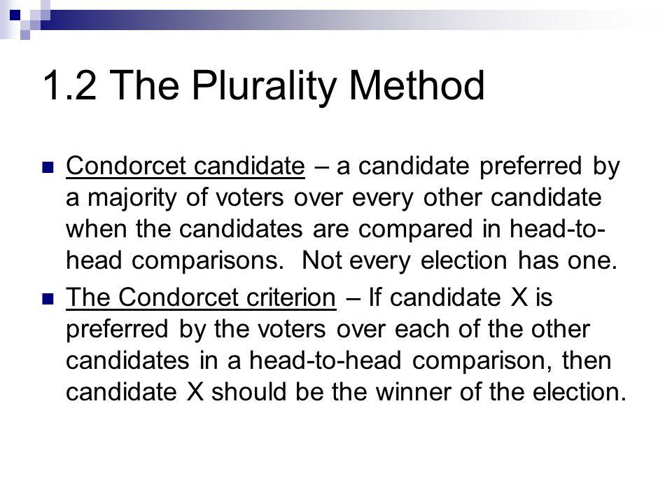 1.2 The Plurality Method