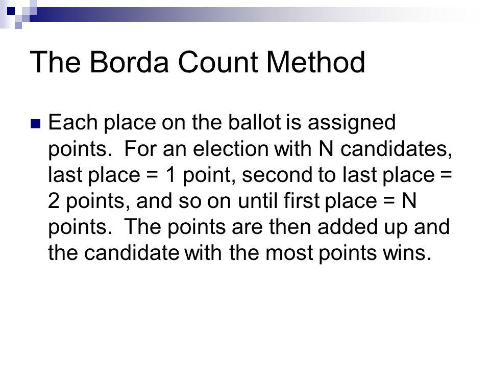 The Borda Count Method