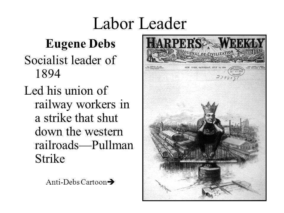 Labor Leader Eugene Debs Socialist leader of 1894
