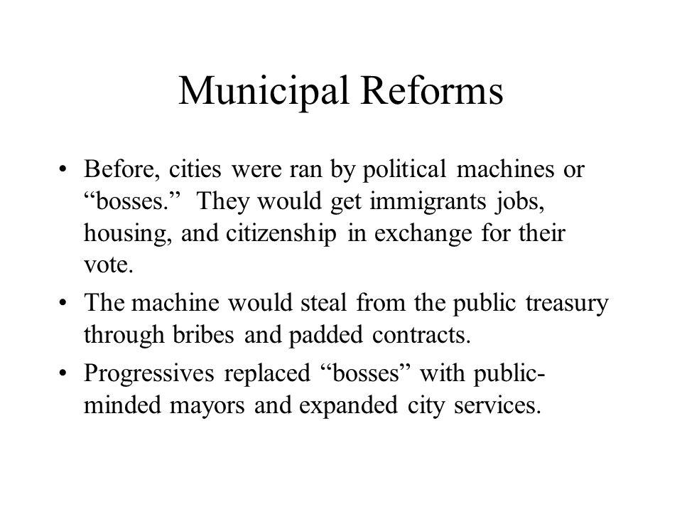 Municipal Reforms