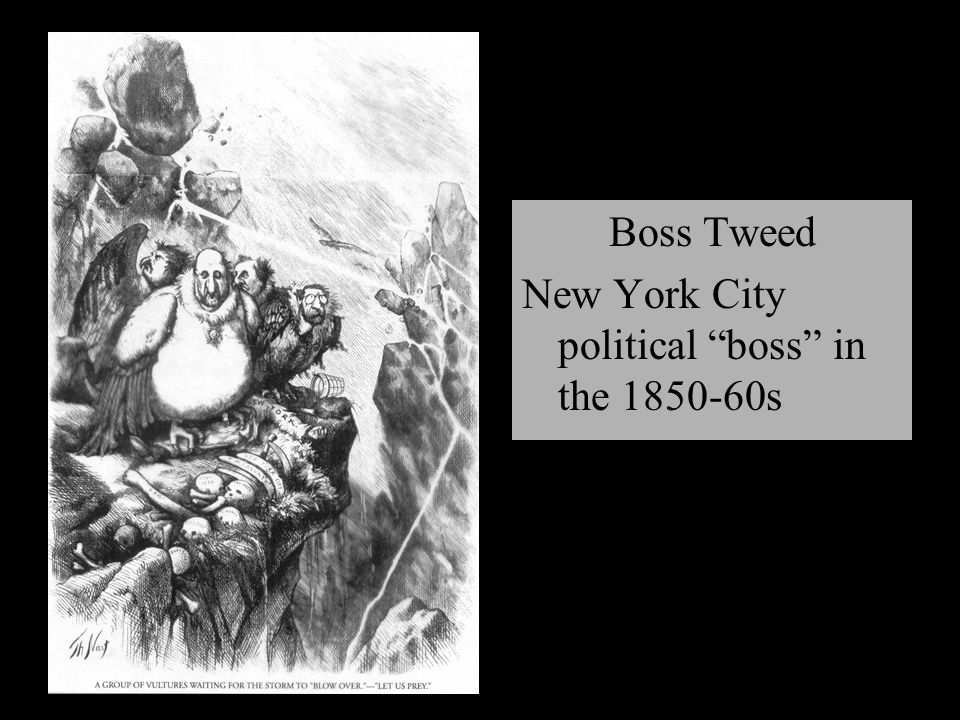 Boss Tweed New York City political boss in the 1850-60s