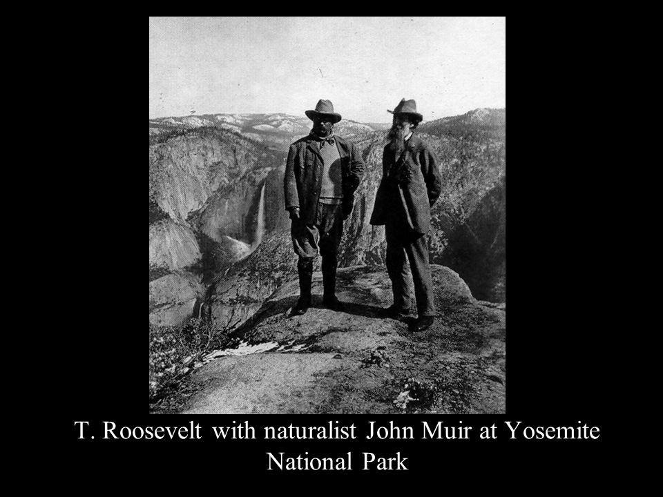 T. Roosevelt with naturalist John Muir at Yosemite National Park
