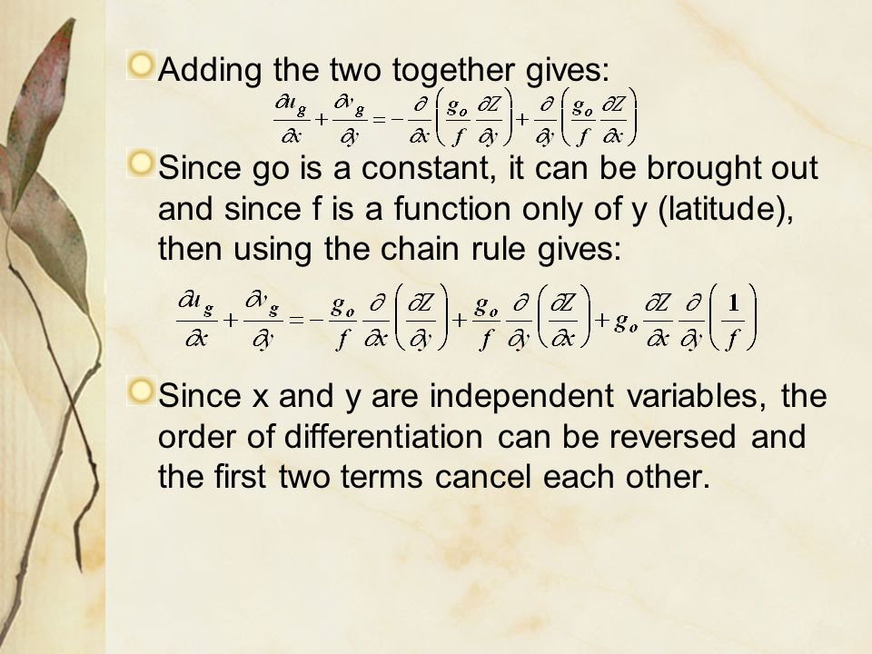 Adding the two together gives:
