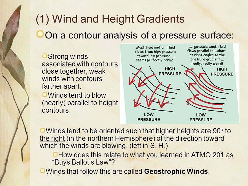 (1) Wind and Height Gradients