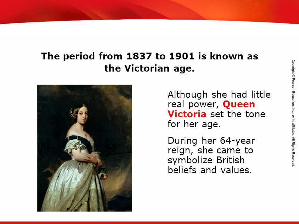 The period from 1837 to 1901 is known as the Victorian age.