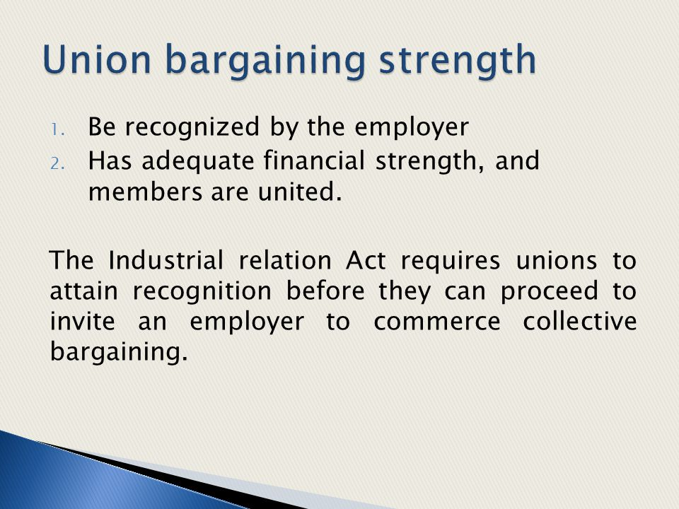 Union bargaining strength