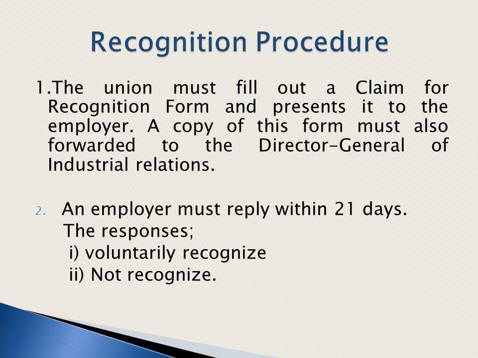 Recognition Procedure