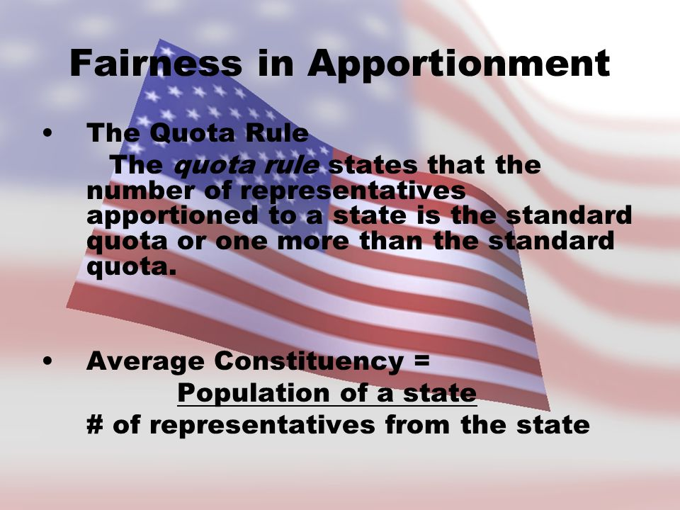 Fairness in Apportionment