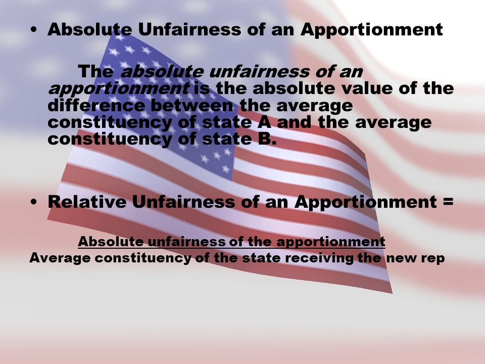 Absolute Unfairness of an Apportionment