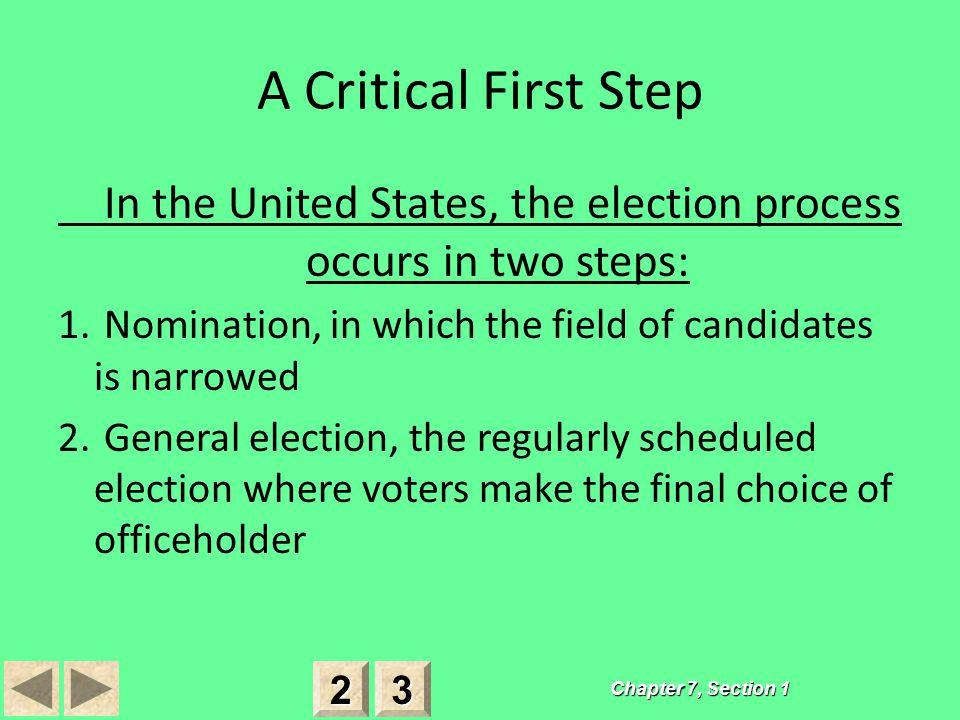A Critical First Step