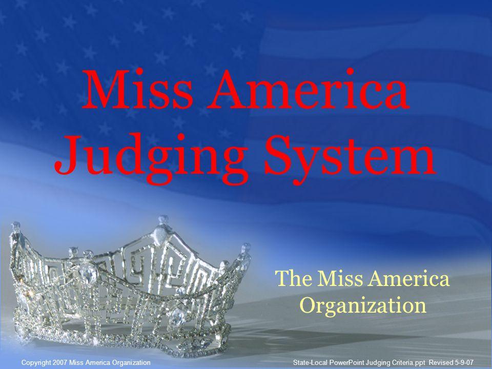 Miss America Judging System