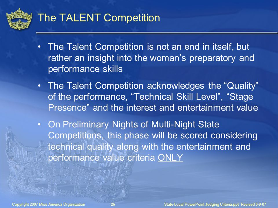 The TALENT Competition