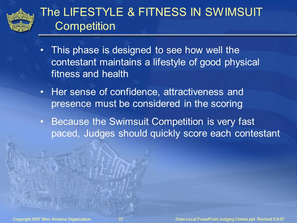 The LIFESTYLE & FITNESS IN SWIMSUIT Competition