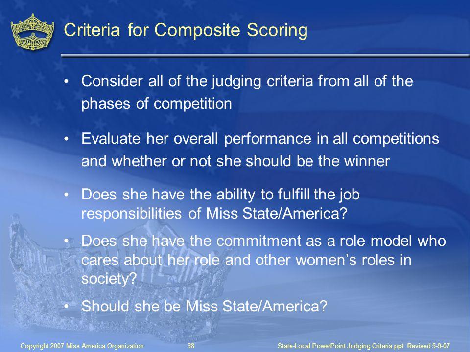 Criteria for Composite Scoring