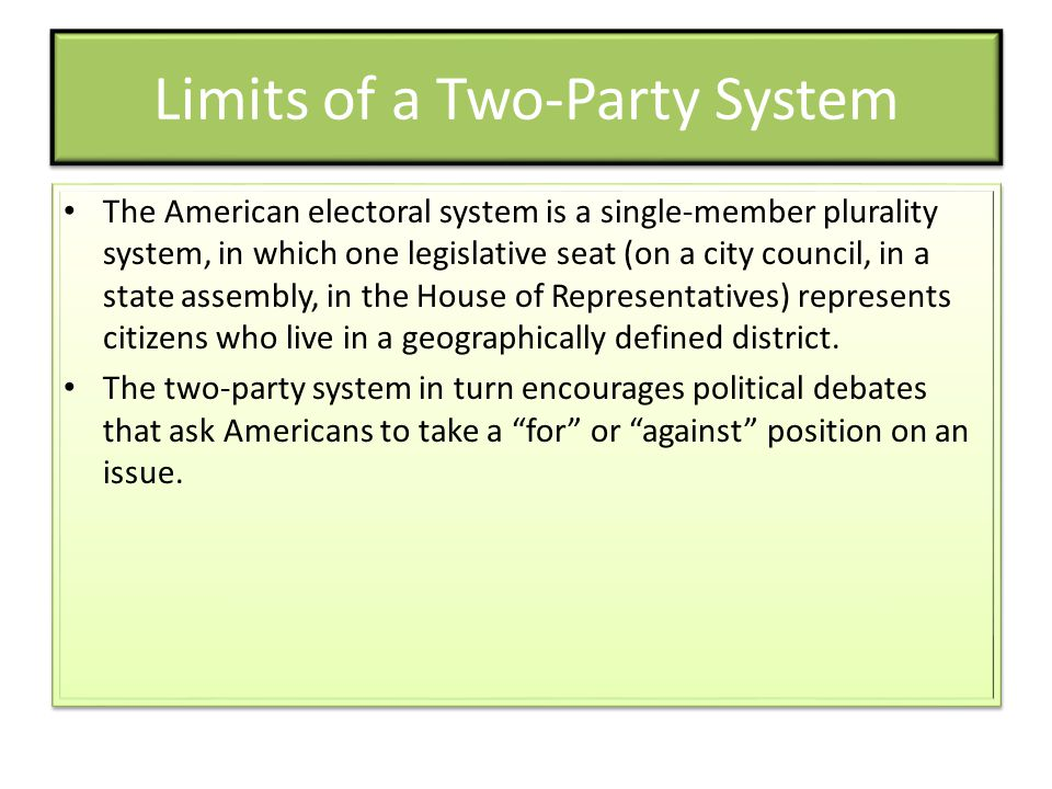 Limits of a Two-Party System