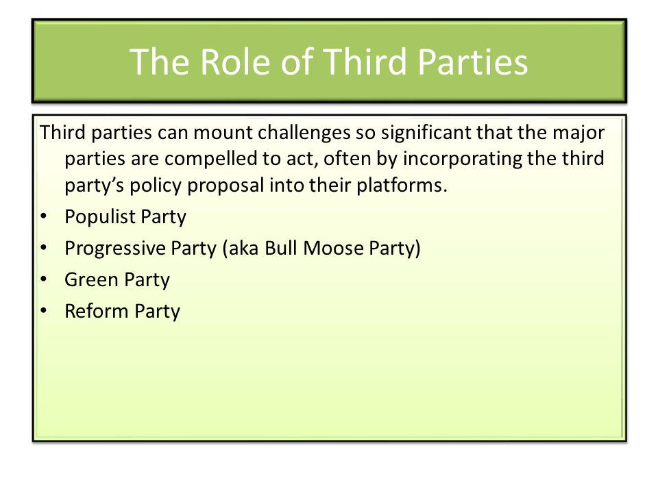 The Role of Third Parties