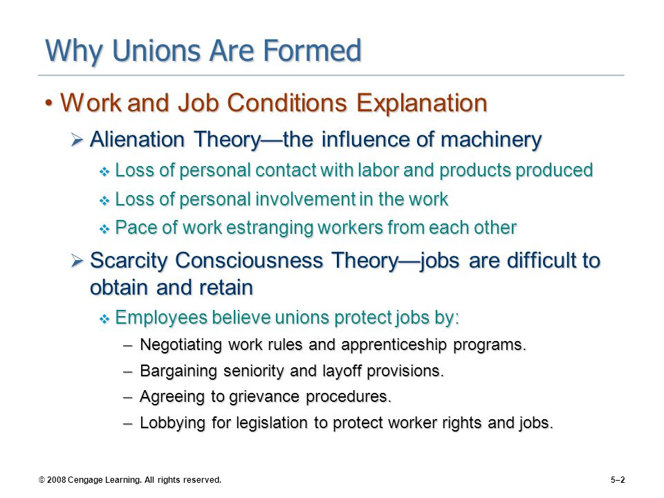 Why Unions Are Formed Work and Job Conditions Explanation