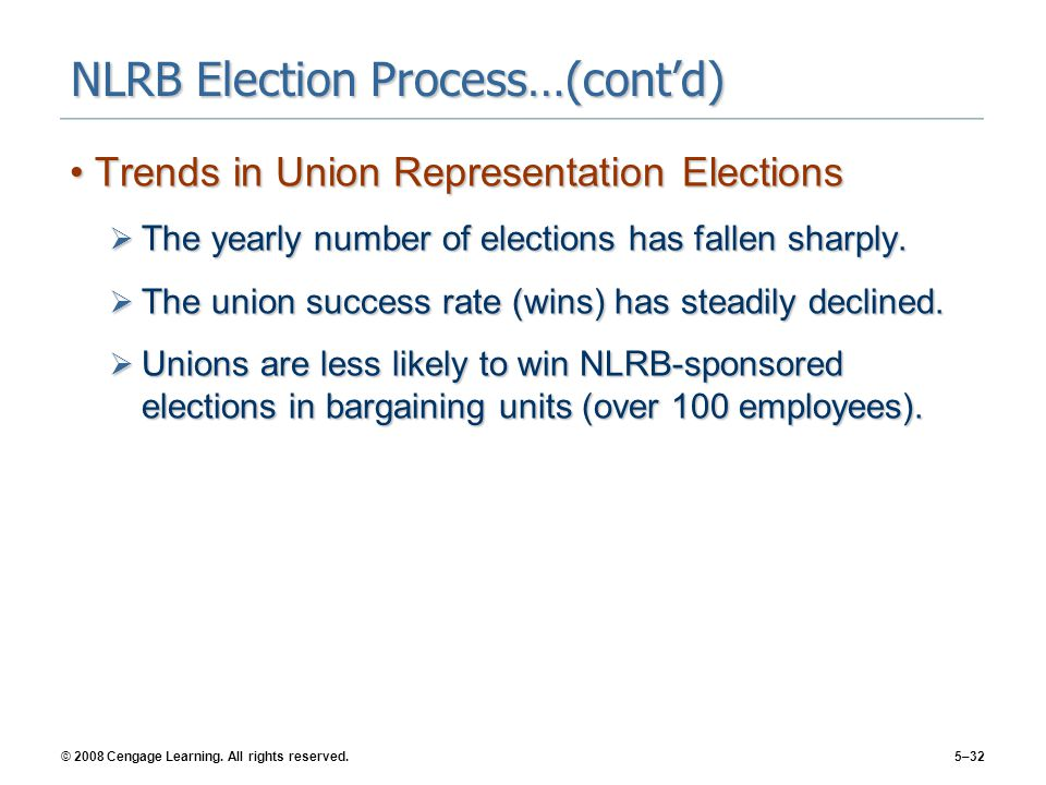 NLRB Election Process…(cont'd)