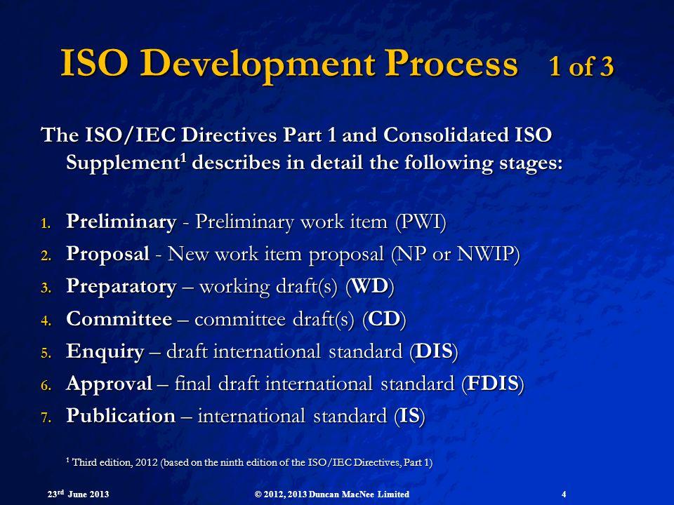 ISO Development Process 1 of 3