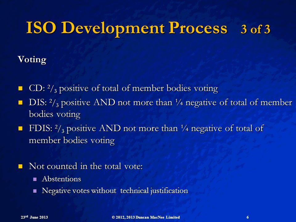 ISO Development Process 3 of 3