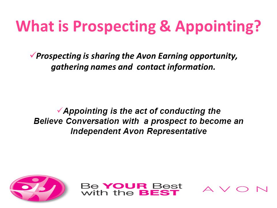 What is Prospecting & Appointing