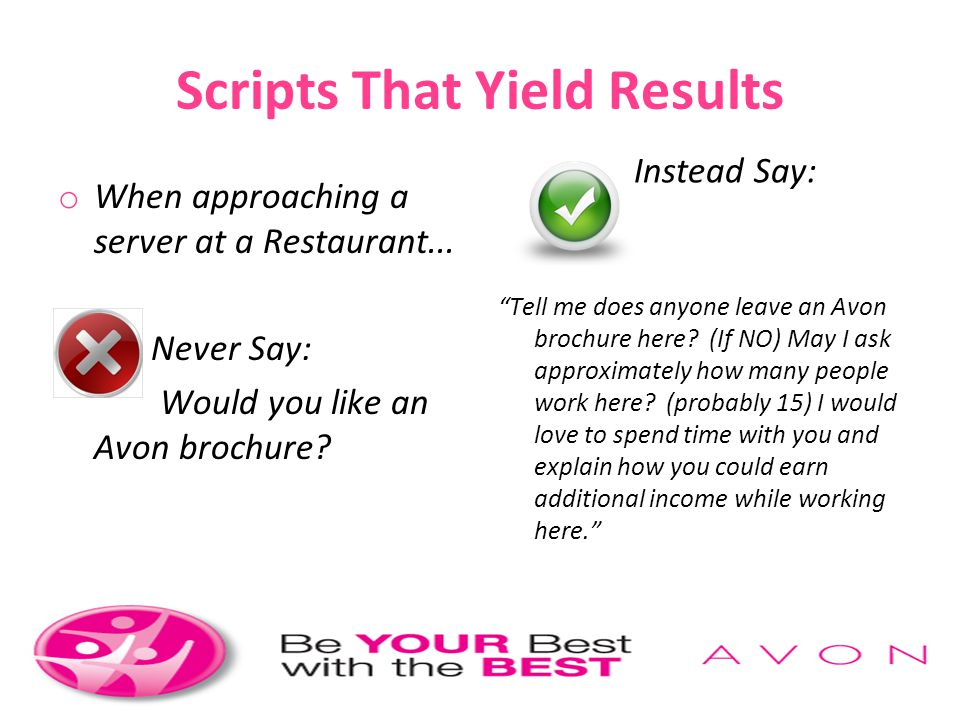 Scripts That Yield Results