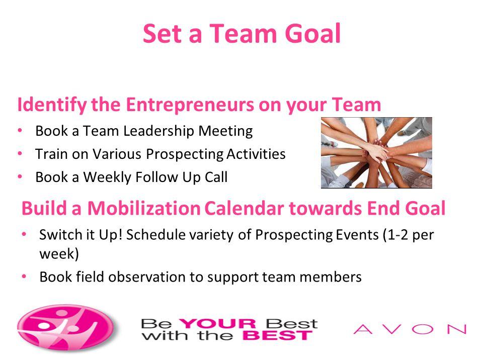 Set a Team Goal Identify the Entrepreneurs on your Team