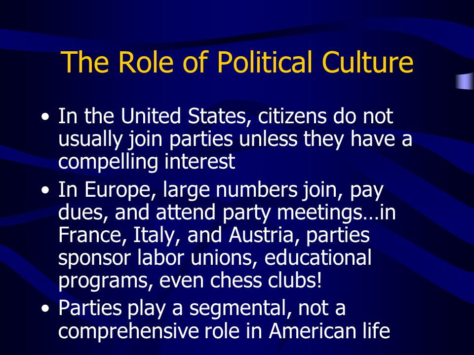 The Role of Political Culture