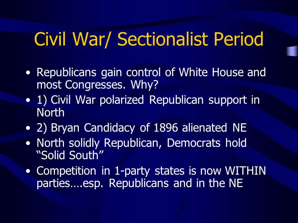 Civil War/ Sectionalist Period