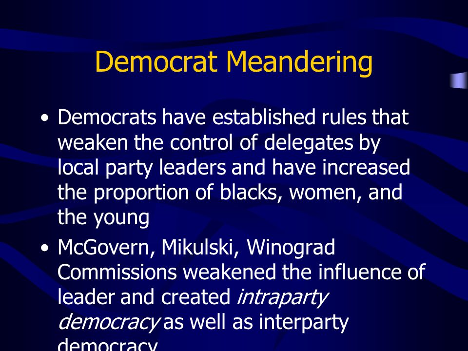 Democrat Meandering