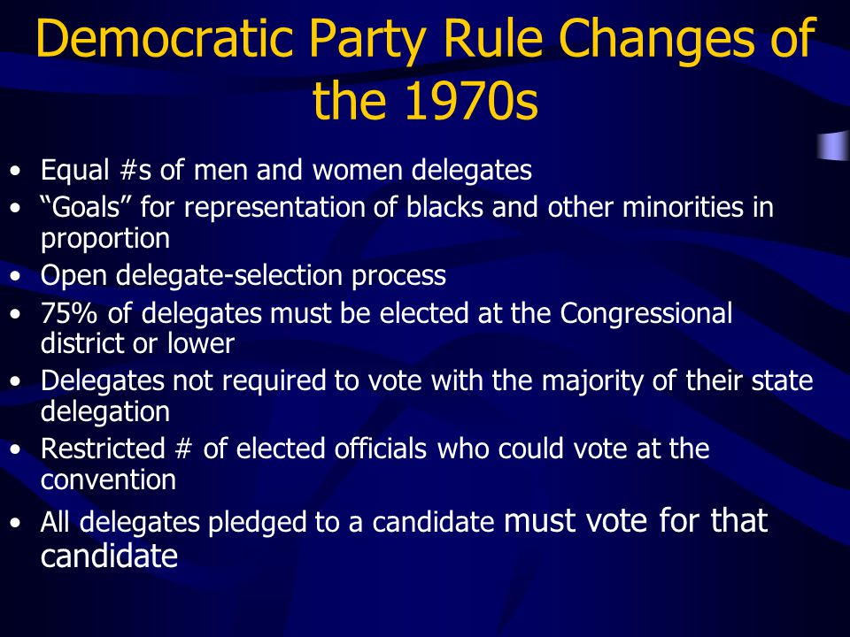 Democratic Party Rule Changes of the 1970s