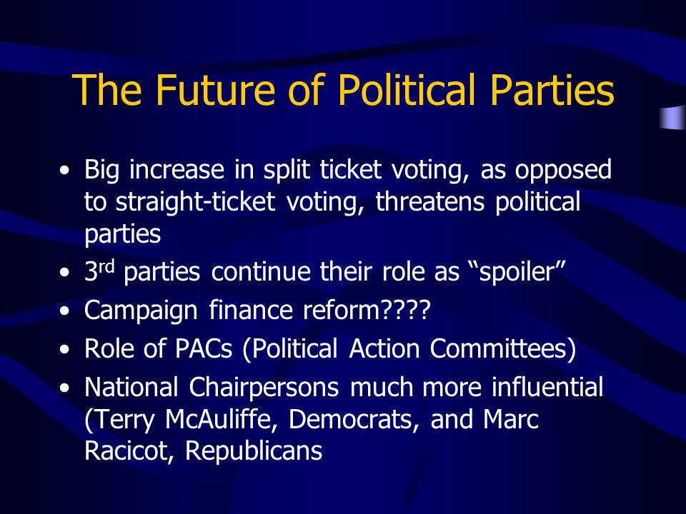 The Future of Political Parties