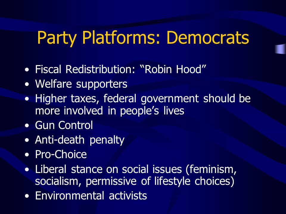 Party Platforms: Democrats