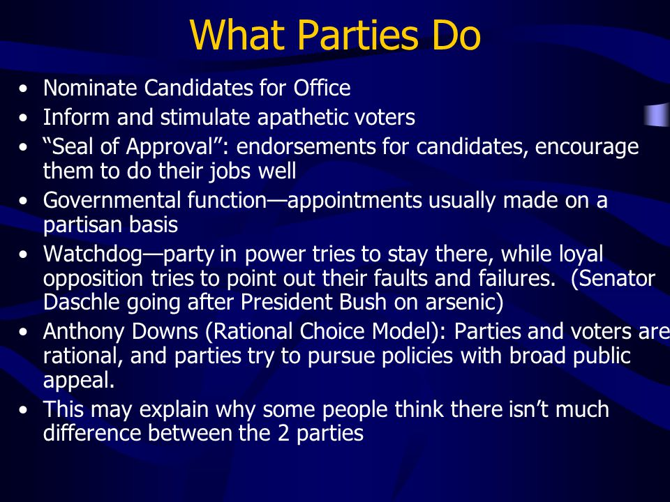 What Parties Do Nominate Candidates for Office
