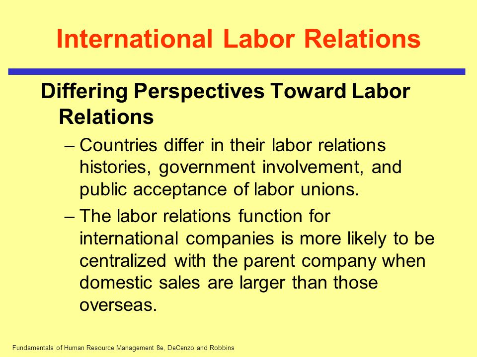International Labor Relations