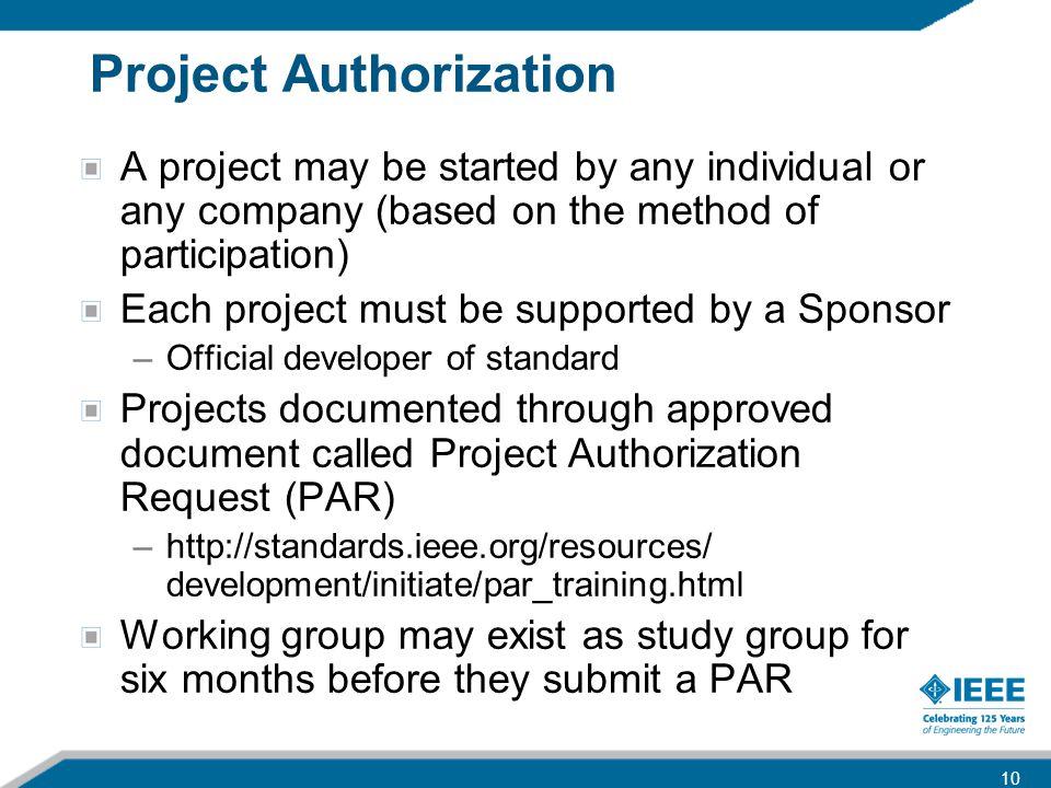 Project Authorization