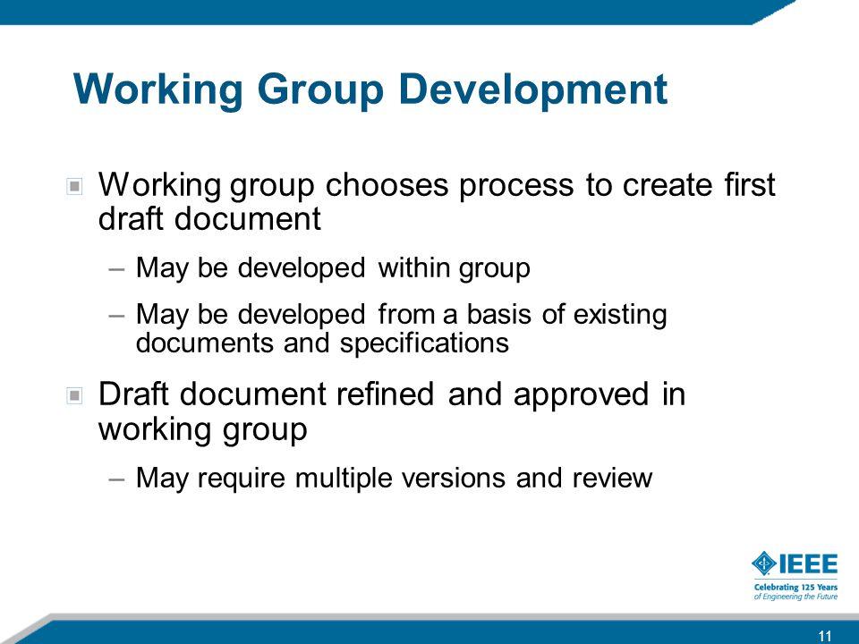 Working Group Development
