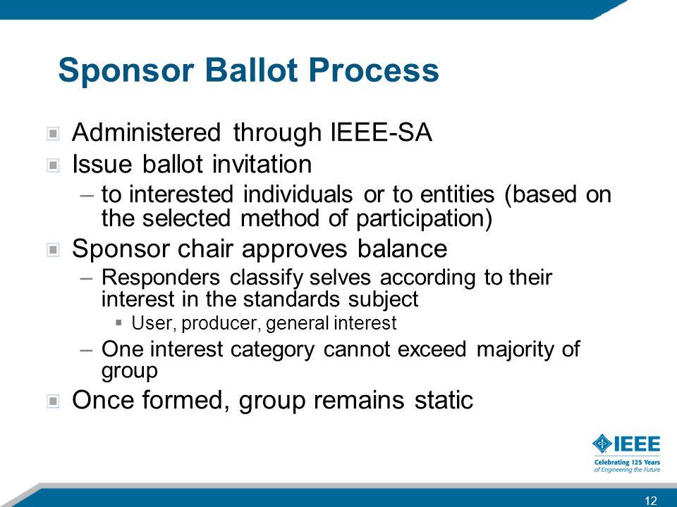 Sponsor Ballot Process