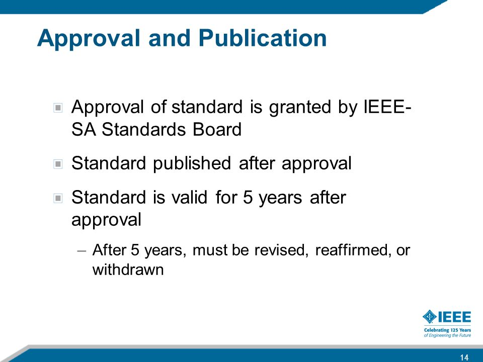 Approval and Publication